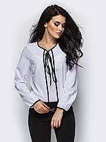 Жіноча біла блузка на зав'язці Kira