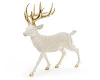 Декоративная фигура Олень 39 см, цвет - золото