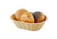 Корзинка для хлеба или фруктов овальная 23х17см, Н6,5см, бежевая APS 40215
