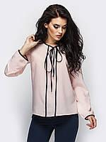 Жіноча бежева блузка на зав'язці Kira
