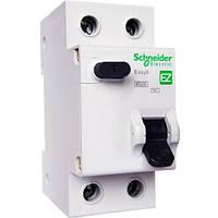 """Дифференциальный автоматический выключатель 1Р+N/10А/30МА/ТИП """"АС"""" Schneider Electric Easy9"""