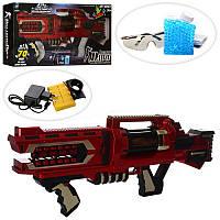Автомат LS201-A аккум, 70 см, звук, водяные пули, очки