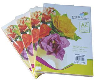 """Цветная бумага """"Spectra color"""" mix А4, 160 г/м2, 100 листов"""