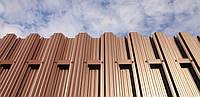 Забор металлический ШТАКЕТный  металлический 2,0 х 1,0м. Премиум, 2-сторонняя зашивка