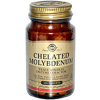 Молибден (Chelated Molybdenum), Solgar, 100 таблеток