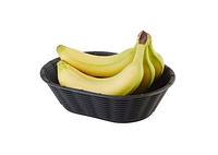 Корзинка для хлеба или фруктов овальная 23х17см, Н6,5см, черная APS 40216
