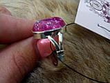 """Кольцо с кварцем кольцо кварц """"вены дракона"""" в серебре 20,5 размер Индия, фото 5"""