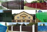 Забор штакетный ДВУХ- сторонний металлический 2,0 х 1,25м. Премиум, 2-ст. зашивка