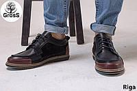 Турецкие мужские мокасины Gross 40-43 размеры мужские туфли