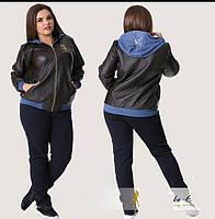 """Стильная  женская куртка для пышных дам """" Экокожа """" Dress Code"""