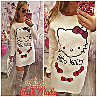 """Женское платье """"Hello Kitty"""" IO-1098"""