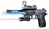 Пистолет  с пульками 6 мм, свет в пакете