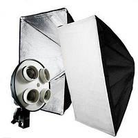 Софтбокс, рассеиватель, диффузор (Softbox) 50 х 70 см для постоянного флуоресцентного света - на 4 патрона E27