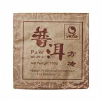Чай китайский элитный шу пуэр «8013» Фабрика Хуннань Ти Компани ( 80-100 гр),сбор 2008г (кирпич)