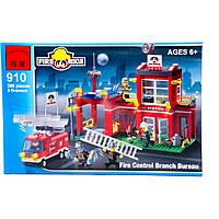 """BRICK 910 (24) """"Пожарная тревога"""", 380 дет, в коробке"""