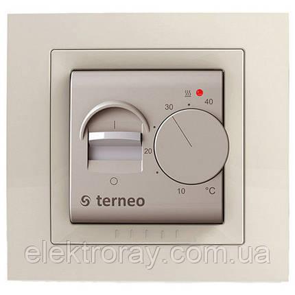 Терморегулятор для теплого пола terneo mex unic слоновая кость, фото 2