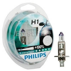 "Галогенка 12В ""Philips"" H1 55 X-treme Vision +100% (2 шт.) (12258 XVS2)"