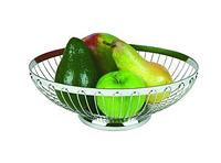 Корзинка для хлеба или фруктов овальная из нерж, 20х15см, Н6,5см APS 30210