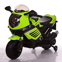 Детский мотоцикл M 3578EL-5 с кожаным сиденьем, EVA колёса