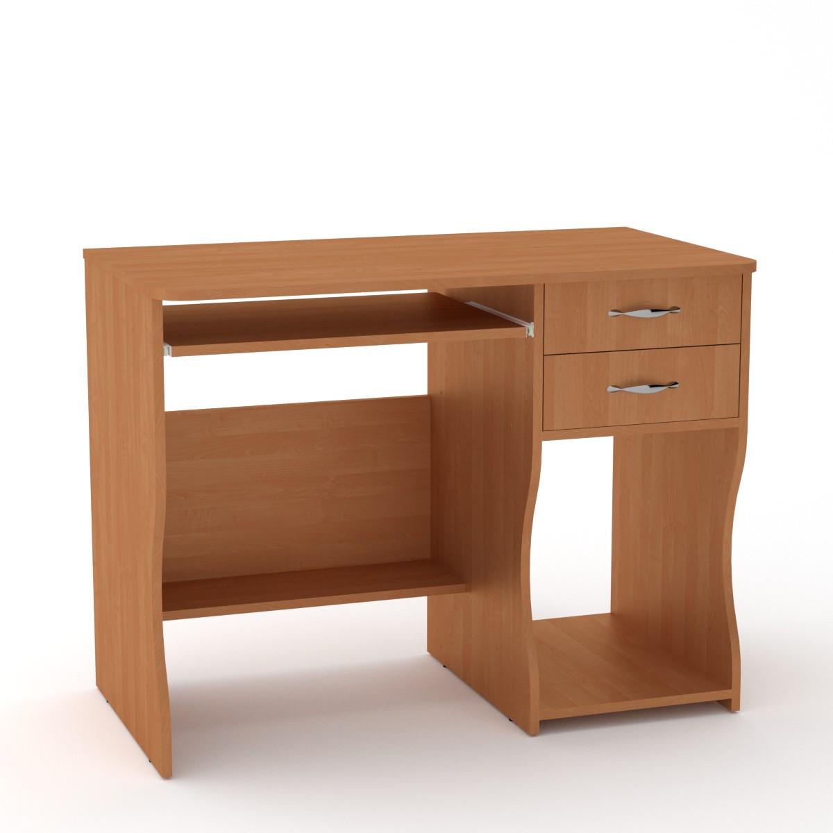 Стол компьютерный СКМ-7 ольха Компанит (100х55х77 см)
