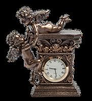 """Настольные часы Veronese под старину """"Два ангела"""" 17 см"""