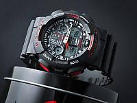 Топ продаж!  Спортивные часы Casio G-Shock ga-100 Black-Red