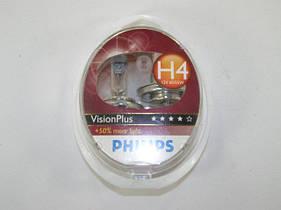 "Галогенка 12В ""Philips"" H4 60/55 Vision Plus +60% (2 шт.) (12342 VPS2)"