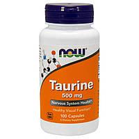 Now Foods, Таурин, Taurine 500mg (100 caps)