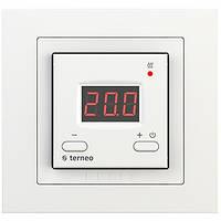 Терморегулятор для теплого пола terneo st unic белый