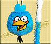 Пиньята Птичка Ангри Бердс голубая