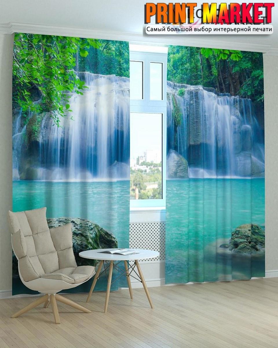 Фотошторы широкий водопад