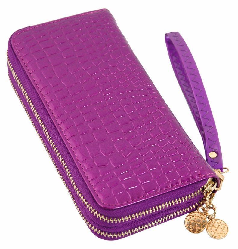 Женский кожаный кошелек-партмоне Traum 7201-17, фиолетовый