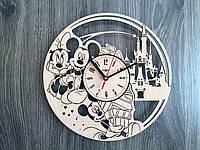 Детские декоративные часы на стену «Микки и Минни Маус»