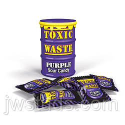 Конфеты Toxic Waste (Ягоды, Фиолетовая банка, 48 гр., 16 шт)