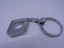Брелок металлический простой Renault логотип эмблема Рено автомобильный на авто ключи