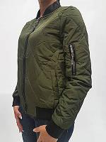 Куртка женская типа бомбер стеганная темные цвета 173339.1
