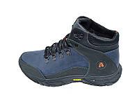 Мужские зимние ботинки с нат. кожи Anser Stael 570 Blue размеры: 40 41 42 43 44 45