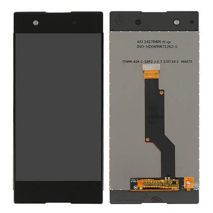 Дисплей (экран) для Sony G3125 Xperia XA1 Dual з сенсором (тачскріном) черный Оригинал, фото 2