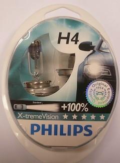"Галогенка 12В ""Philips"" H4 60/55 X-treme Vision +100% (2 шт.) (12342 XVS2)"