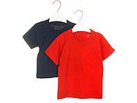 Детская цветная футболка однотонная