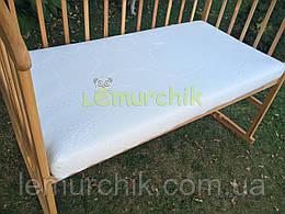 Матрас ортопедический в детскую кроватку трехслойный Aloe vera (кокос-пенополиуретан-кокос) 120х60х8 см