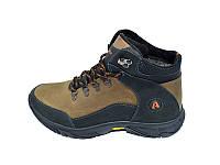 Мужские зимние ботинки с нат. кожи Anser Stael 570 Black размеры: 40 41 42 43 44 45