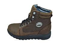 Мужские зимние ботинки с нат. кожи Club Shoes Stael BB1977 Brown размеры: 40 41 42 43 44 45