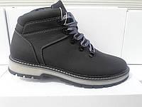 Зимние мужские кожаные ботинки 172 GRAS Размерный ряд: 40-45 черного цвета