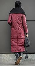 Женский зимний пуховик-одеяло с вязаным воротником 42-50 р., фото 3