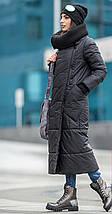 Женский зимний пуховик-одеяло с вязаным воротником 42-50 р., фото 2