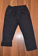 УТЕПЛЁННЫЕ,Синие, Котоновые  брюки на флисе для мальчиков.Размеры 4-12.Фирма S&D.
