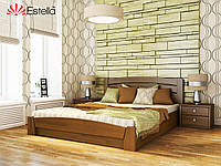 """Деревянная кровать с подъемным механизмом """"Селена Аури"""" 1200х2000 (массив)"""