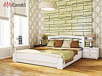 """Деревянная кровать с подъемным механизмом """"Селена Аури"""" 1600х2000 (массив)"""