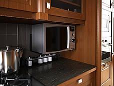Кронштейн для микроволновой печи черный. ТМ Кольчуга (Kolchuga), фото 3